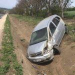 Серьёзное ДТП у въезда в Калараш: машина угодила в кювет (ФОТО)