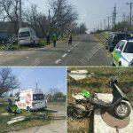 ДТП в Первомайске: микроавтобус налетел на мопед