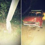 Пьяный водитель врезался в столб. Мужчина чудом не пострадал