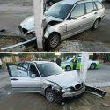 Уснул за рулём: бендерчанин протаранил на авто другую машину и столб