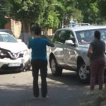 Автомобиль с дипломатическими номерами попал в аварию на Ботанике