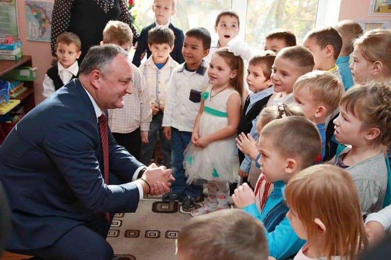 Додон: В жизни нет большей награды, чем теплые улыбки детей!