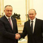 Додон поздравил Путина с Днем России