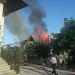 Крупный пожар в Думбраве: с огнём боролись 7 бригад ГИЧС (ФОТО)