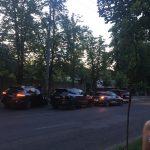 Цепное ДТП в столице: Porsche протаранил столб (ФОТО)