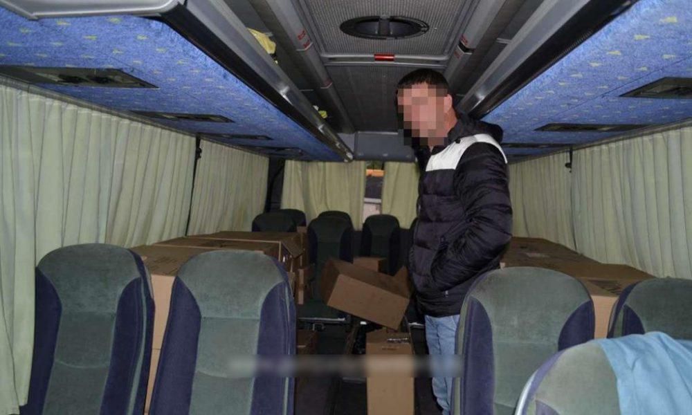 Молдаванин набил автобус сигаретами и алкоголем и попался румынским правоохранителям (ФОТО)