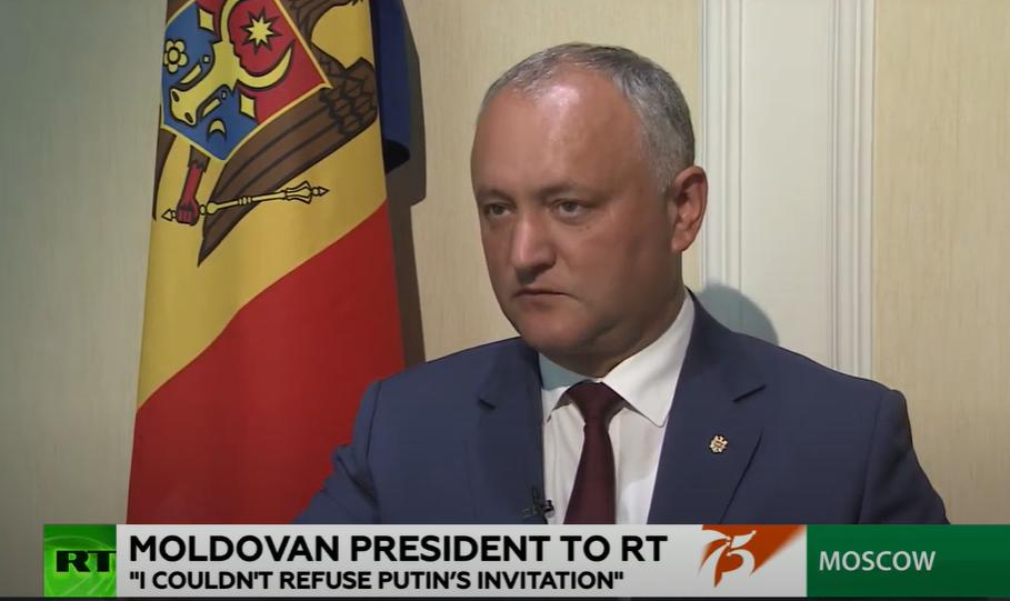 Додон в интервью RT International: 75-летие Победы – великая дата для большинства молдаван (ВИДЕО)