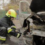 В Бельцах в один день по разным адресам загорелись два автомобиля