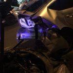 Крупная авария в столице: легковушка врезалась в такси (ФОТО, ВИДЕО)