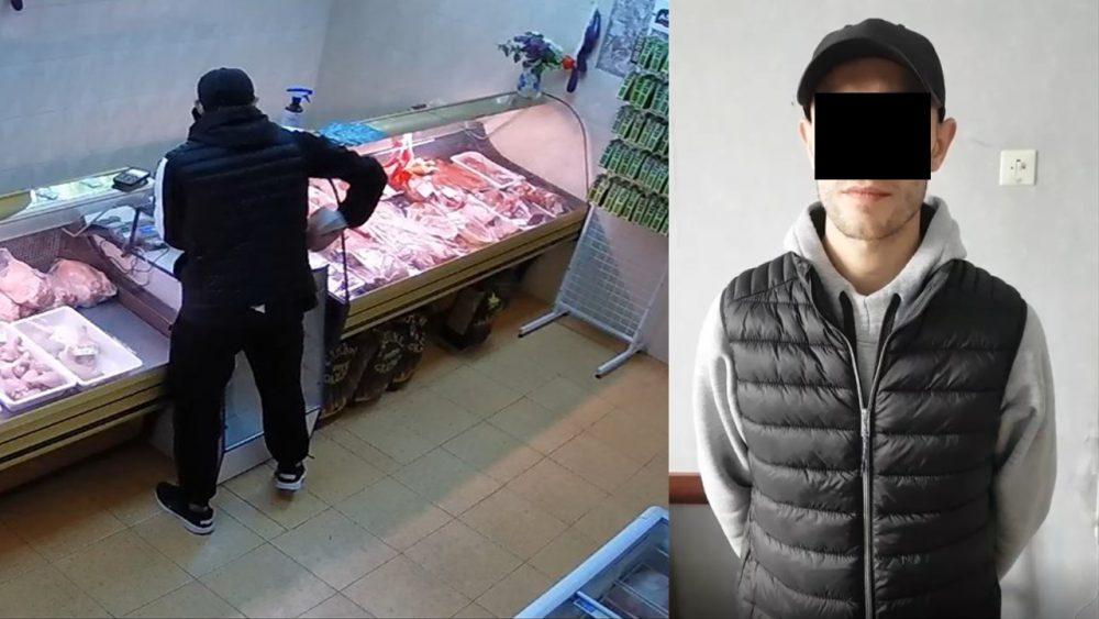Украл деньги из кассы магазина. В столице задержали наглого вора (ВИДЕО)