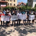 У частной клиники перебежчика Гацкана прошла акция протеста