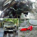 В Тирасполе во дворе жилого дома загорелся автомобиль