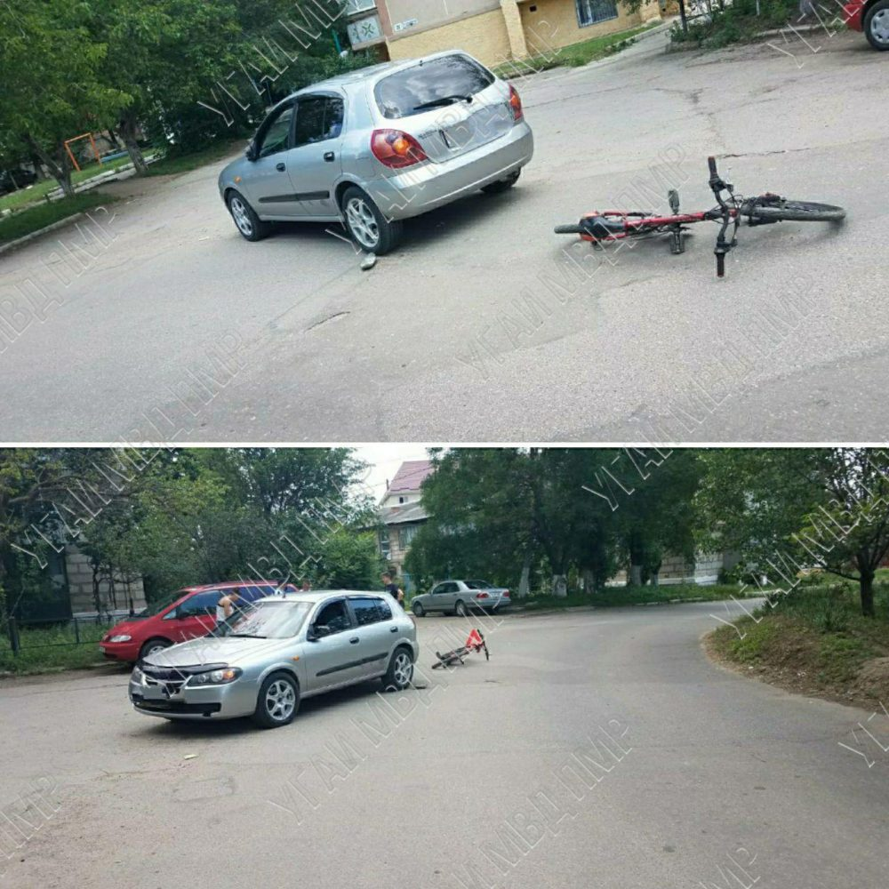 Несовершеннолетний велосипедист угодил под колёса авто