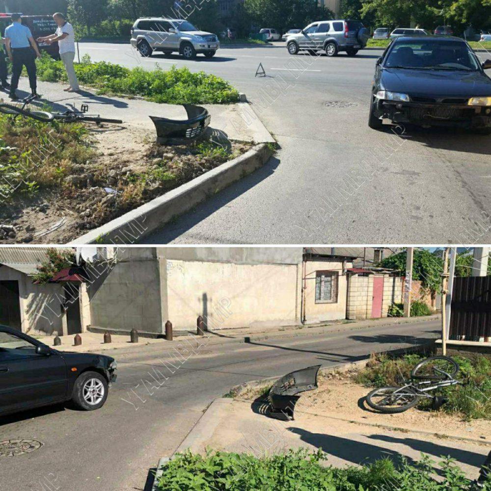 В Тирасполе водитель сбил велосипедиста из-за яркого солнца