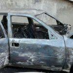 На Телецентре у жилого дома сгорел автомобиль (ФОТО)