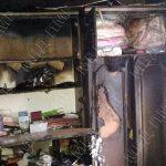 Невыключенный утюг стал причиной пожара