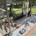 На Ботанике продолжаются работы по благоустройству улицы Зелинского