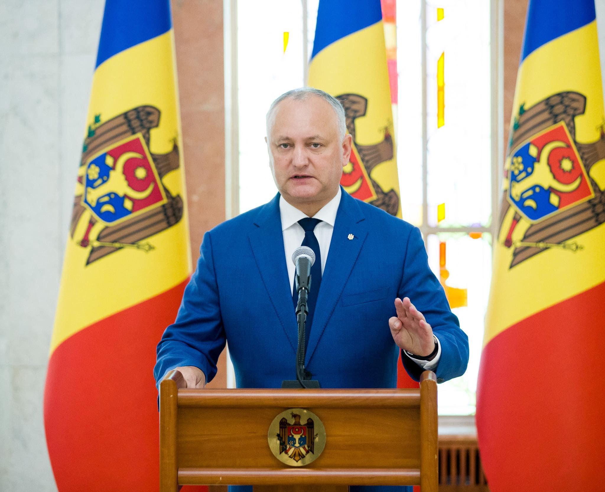 Додон: Указ о повторном выдвижении Гаврилицэ де-факто приостановлен