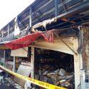 Ночью на Центральном рынке Кишинёва тушили крупный пожар (ФОТО)