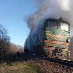 Вблизи Дрокии загорелся локомотив поезда Окница-Бельцы
