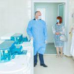 Президент посетил Национальный центр переливания крови в Кишиневе (ФОТО, ВИДЕО)
