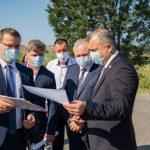 Кику проинспектировал ремонт дороги в Криулянах