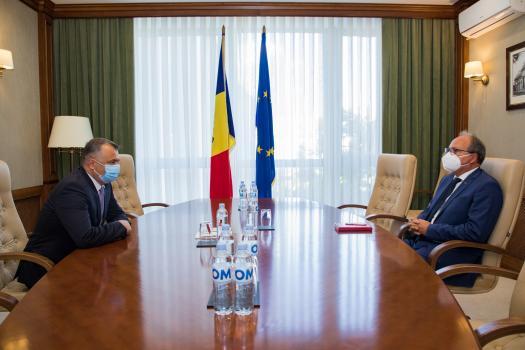 Кику провел встречу с послом Румынии