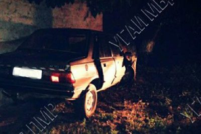 Влетели в дерево: в результате ДТП пострадали водитель и пассажир
