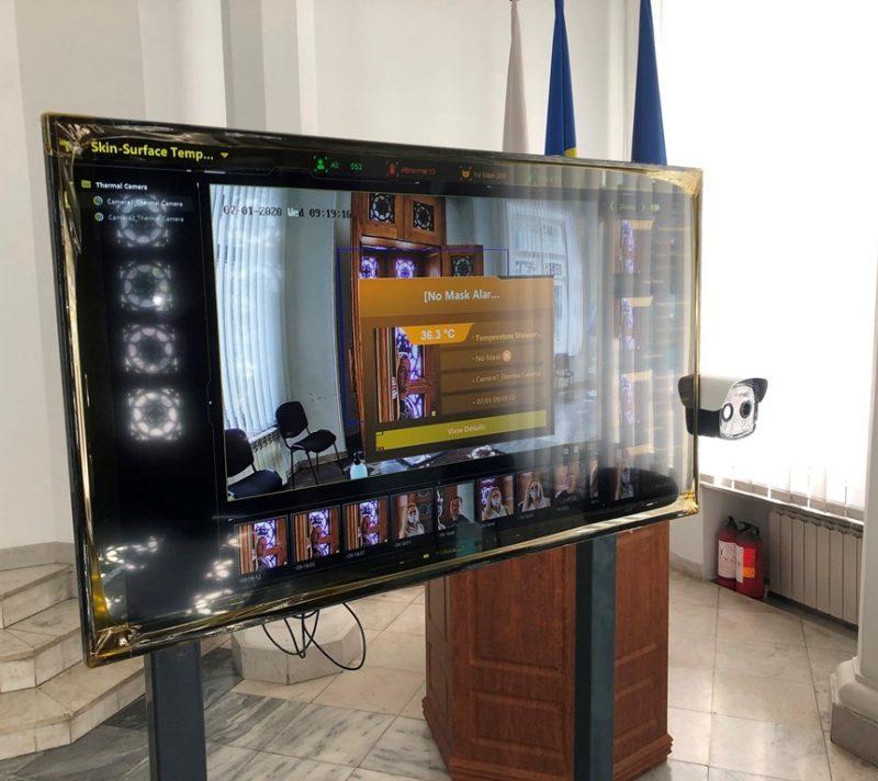 У входа в здание примарии Кишинёва установили термосканер