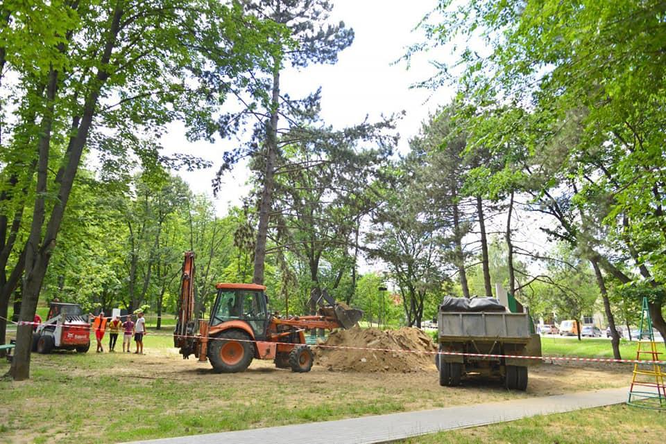 Парк «Алунелул» вскоре преобразится: начались работы по его реабилитации