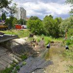 В столице ведутся работы по очистке русла реки Бык (ВИДЕО)