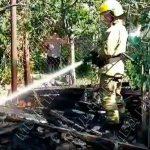 Пожар в Тирасполе: загорелась деревянная хозпостройка