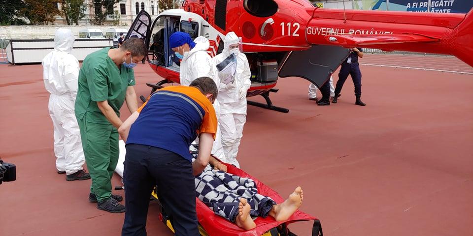 Жителя Кагула на вертолете доставили в Кишинев для лечения (ВИДЕО)