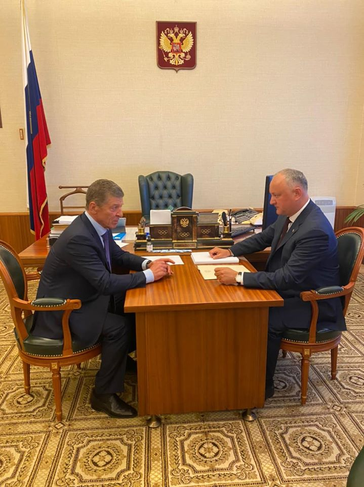 Игорь Додон провел встречу с Дмитрием Козаком: детали беседы