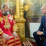 Игорь Додон поздравил митрополита Владимира с днем рождения (ФОТО)