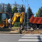 В столице начался ремонт еще одного пешеходного перехода (ФОТО)