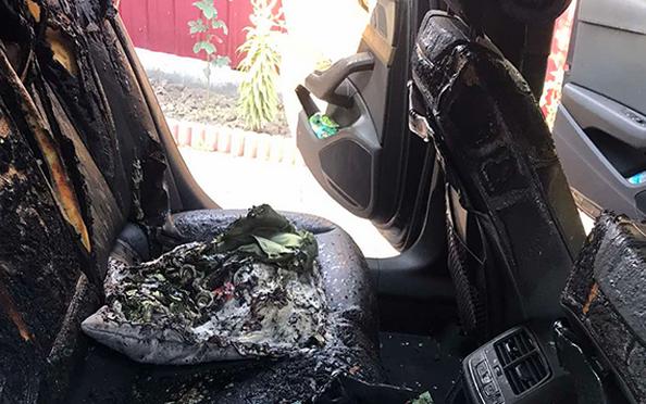 В Комрате ночью сгорел автомобиль: предполагается поджог (ФОТО)
