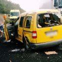 На трассе у Пересечино перевернулся автомобиль