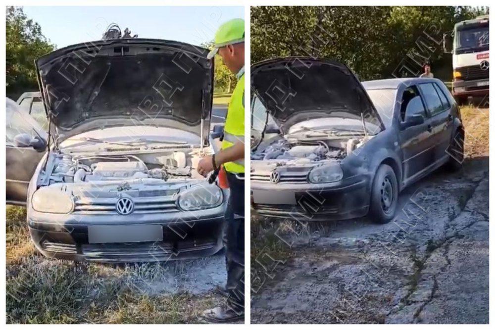 Задымился на дороге: неравнодушные водители помогли потушить загоревшийся автомобиль