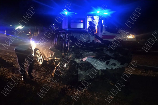 Врезались в дерево: в результате ДТП пострадали водитель и пассажир