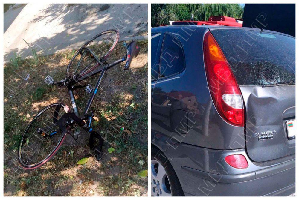 Невнимательный водитель при движении задним ходом сбил велосипедиста