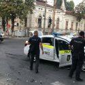 Экипаж полиции попал в аварию в центре столицы (ФОТО)