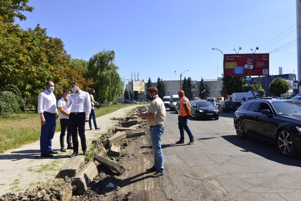 Стартовал ремонт улицы Албишоара: работы идут на участке между улицами Гагарина и Измаил