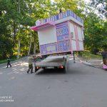 В парке «Долина роз» сносят киоски после визита примара Кишинева