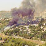 Крупное возгорание в Рыбнице: горит сухая трава