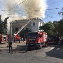 В здании Национальной филармонии вспыхнул пожар