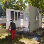 Ботанику расчищают от нелегальных и заброшенных киосков (ФОТО)