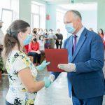 Президент рассказал учителям в Леова о своём решении удвоить в будущем году зарплаты педагогов (ФОТО, ВИДЕО)