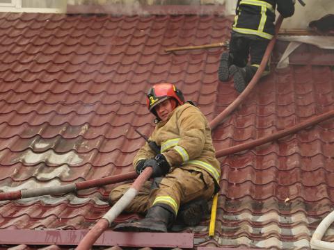 ГИЧС: Пожар в Национальной филармонии ликвидирован