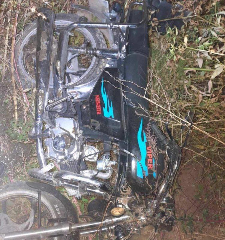 Авария в Хынчештах: перевернулся мотоциклист